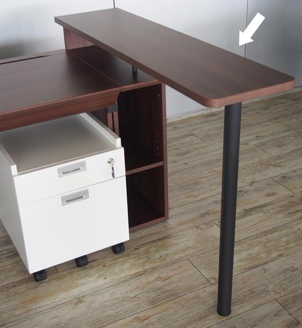 ユピタ木製デスクサイドテーブル使用例