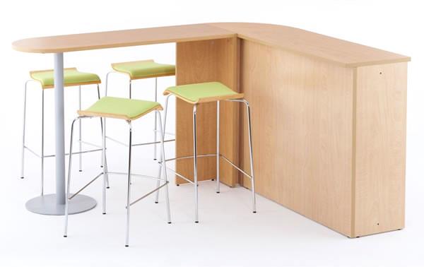 ハイカウンター用サイドテーブル使用イメージ