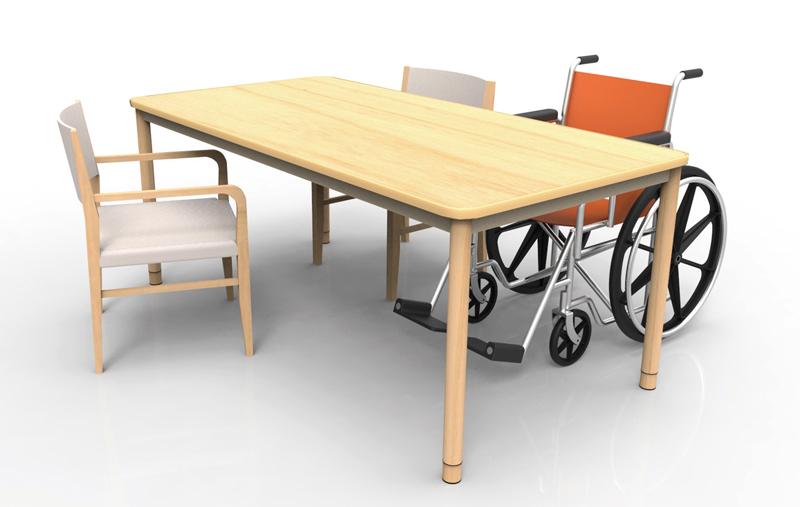 介護テーブル使用イメージ