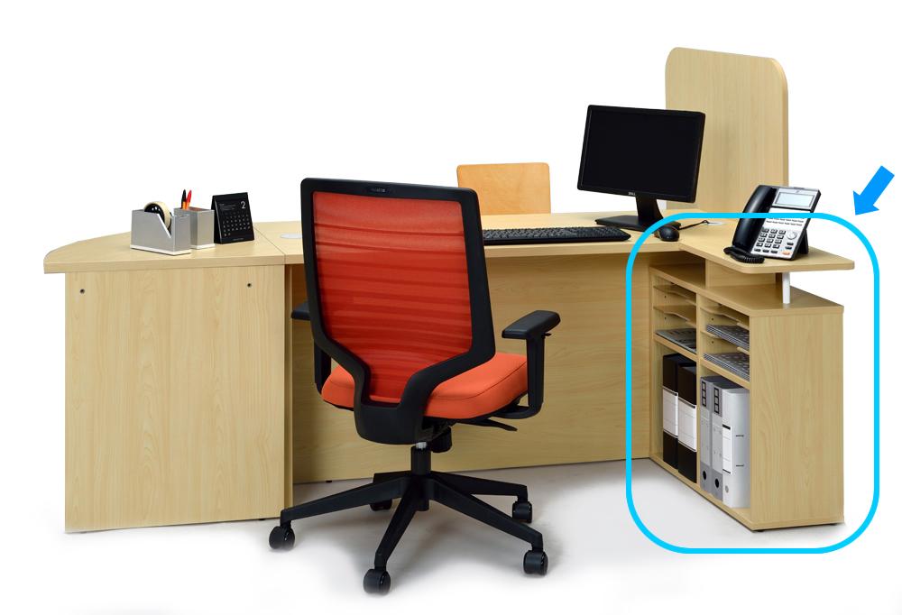 ローカウンターⅡ用サイドテーブル使用イメージ