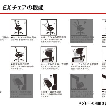 T50EXチェアの機能