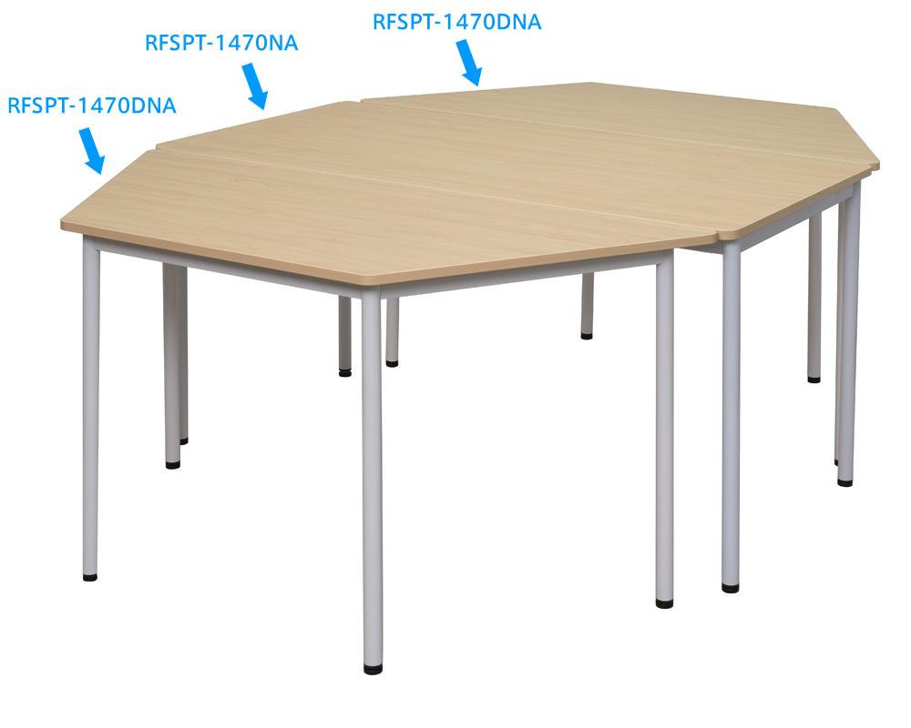 ラディRFシンプルテーブル台形使用イメージ