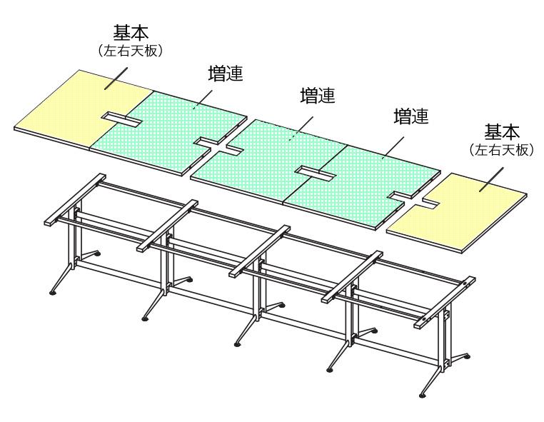 T字脚会議テーブル