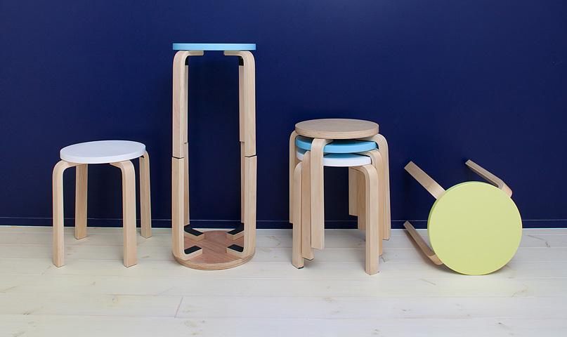 ラウンドシリーズ木製丸椅子