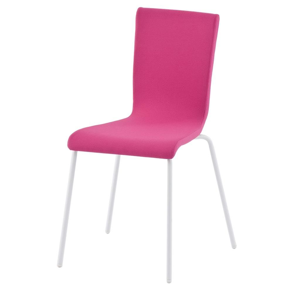 ファブリックチェア ピンク