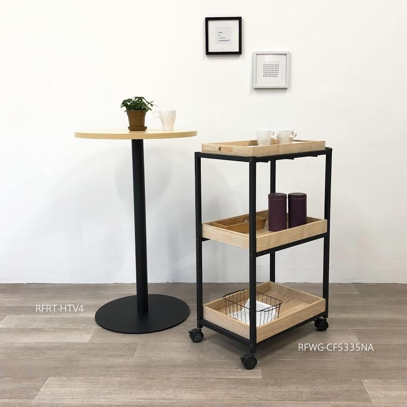 ハイテーブルとカフェワゴン