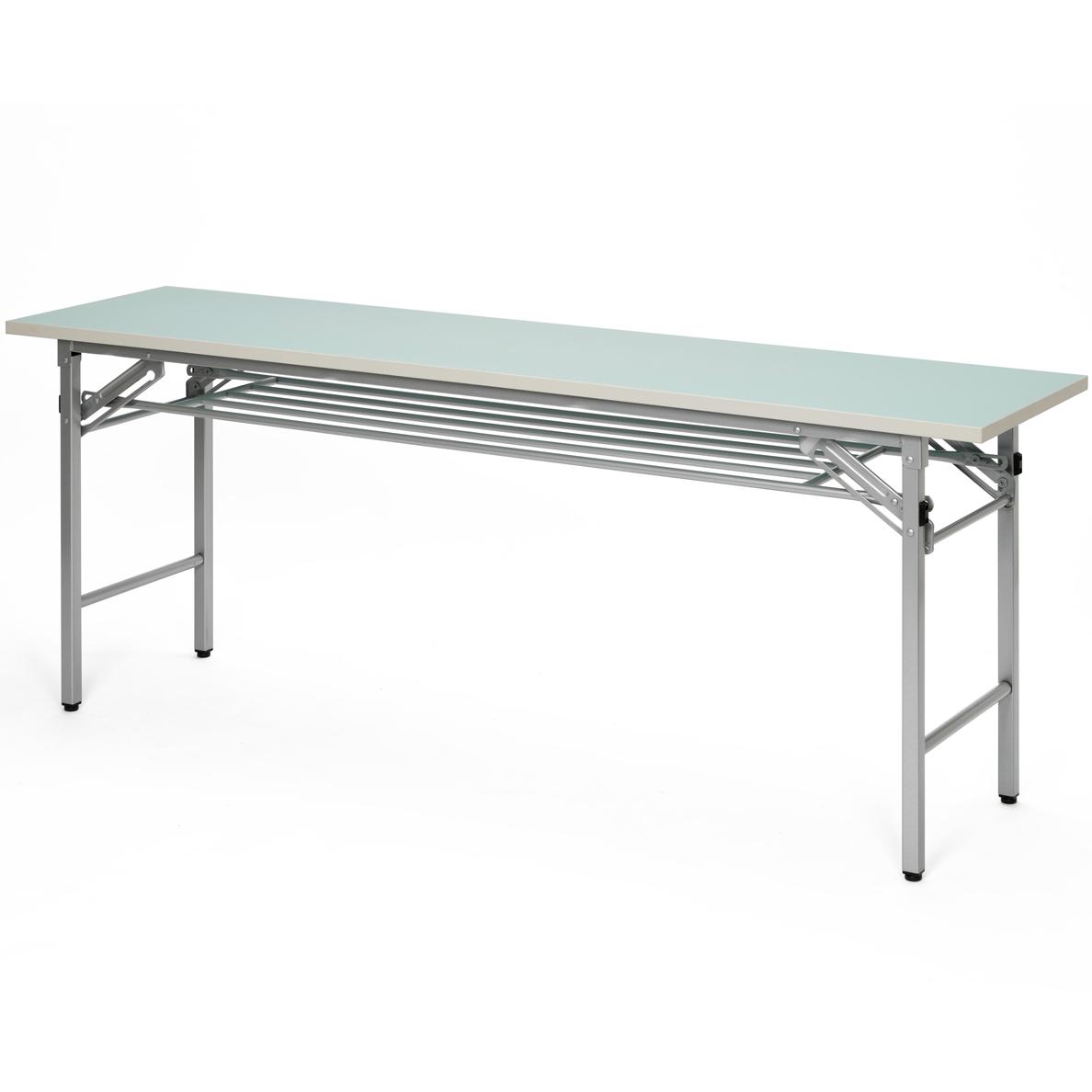 折りたたみ会議テーブル w1800xd450 スカイブルー sft-1845sbl