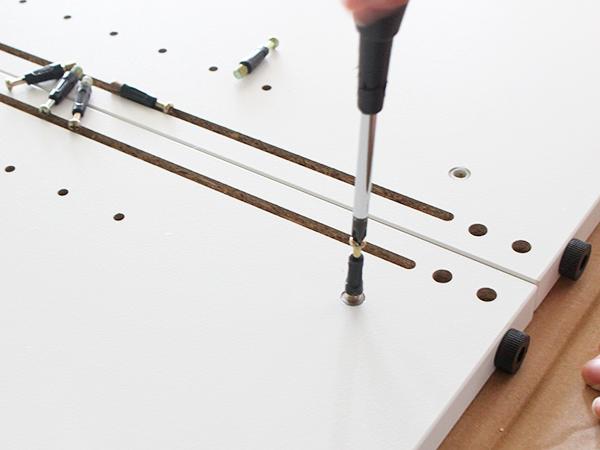 プリーマⅡ木製シェルフローの組み立て