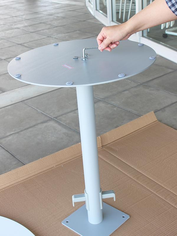 リフレッシュテーブルⅡバッグハンガー付きの組み立て
