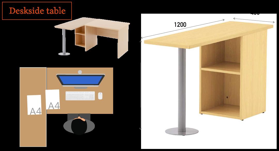 サイドテーブルの使用イメージ