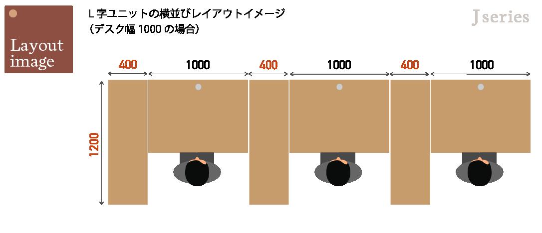 サイドテーブルを活用したレイアウトイメージ1