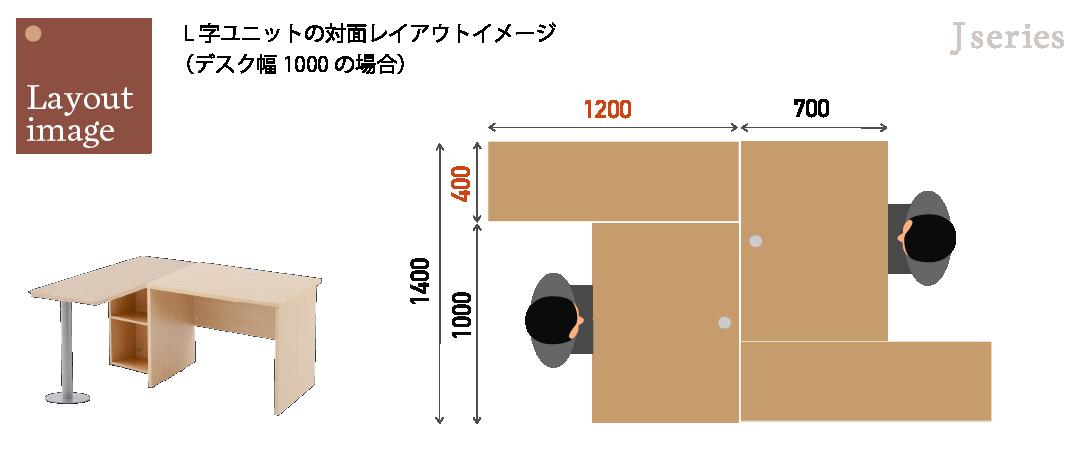 サイドテーブルを活用したレイアウトイメージ2