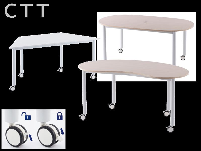 MUSAテーブル付きキャスターチェア