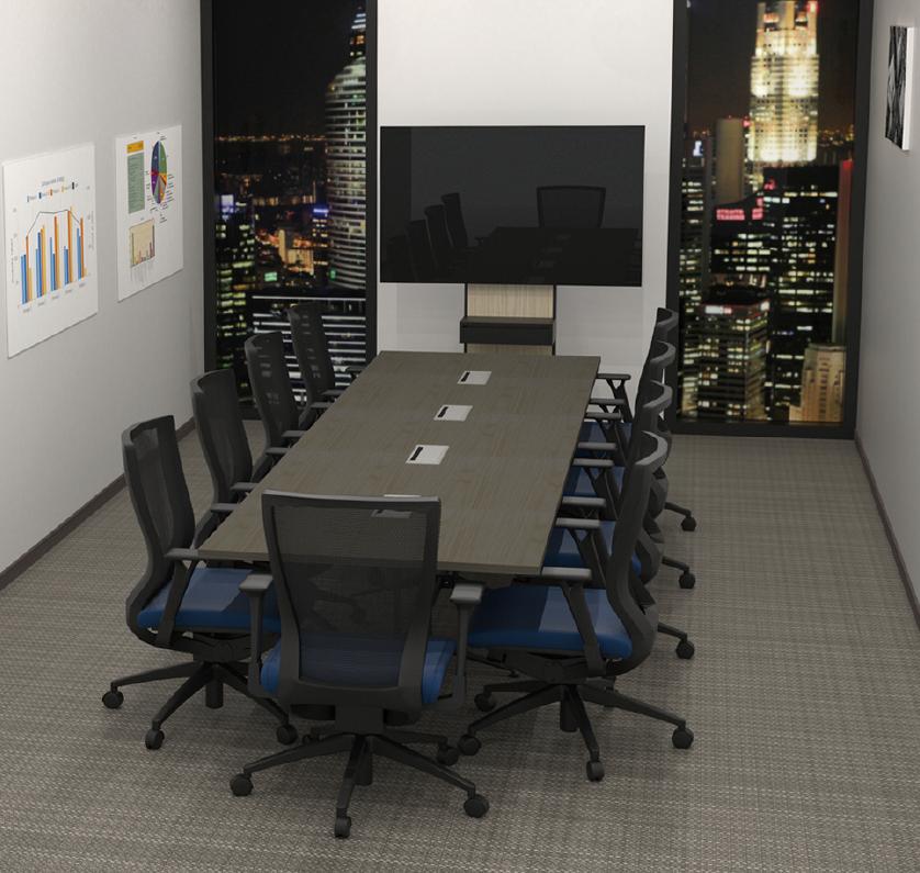 ダークを設置した会議室イメージ