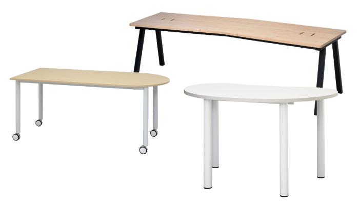 特殊形状天板テーブル