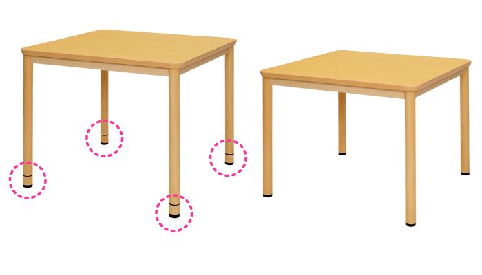 高さ調節機能付きテーブル