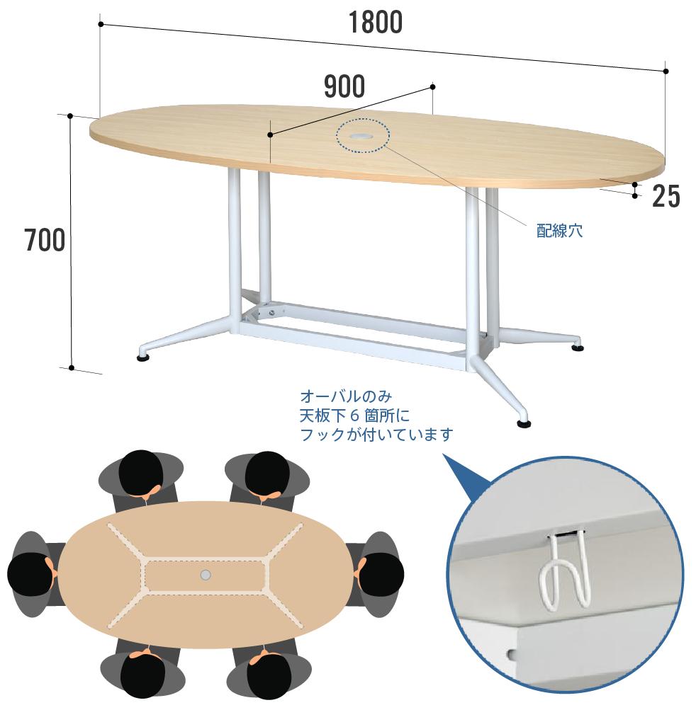 OAオーバルテーブル特徴