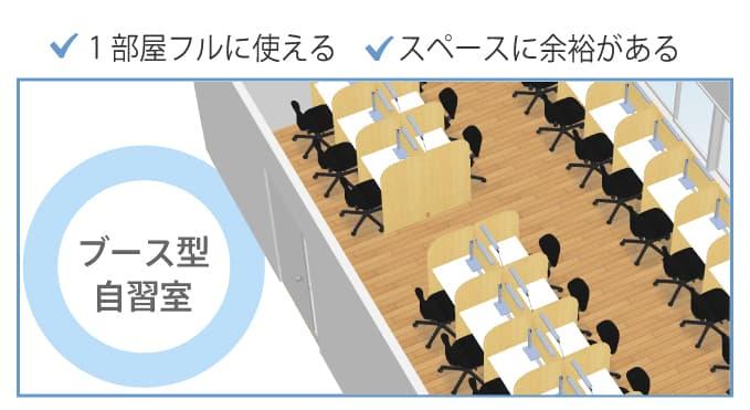 ブース型自習室